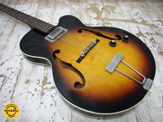 グレッチ Gretsch ヴィンテージ 6186 クリッパー Clipper フルアコ エレキギター サンバースト Sunburst 1960年製 Ovation ケース付き ●