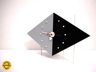 ヴィトラ デザイン ミュージアム Vitra Design Museum ダイヤモンドクロック Diamond Clock ブラック グレー ジョージネルソン ●