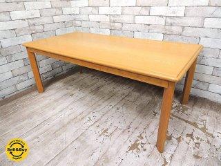 天童木工 TENDO ナラ材 センターテーブル コーヒーテーブル ローテーブル W120cm ●