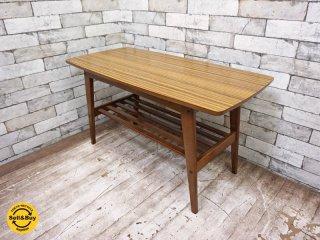 カリモク60 karimoku リビングテーブル コーヒーテーブル サイドテーブル ウォールナットカラー 幅90cm ミッドセンチュリー ◇