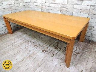 天童木工 Tendo オーク 楢材 高級 ローテーブル W1500 希少プロダクト 美品 コーヒーテーブル センターテーブル ◇