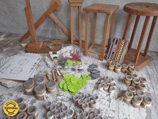 雅流 組紐セット 組紐の組台 丸台 角台 おもり 糸 教科書 日本伝統工芸 古道具 ♪