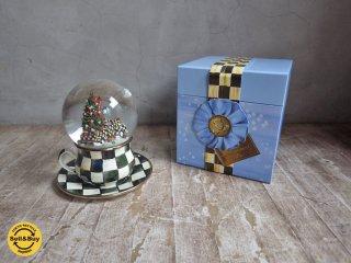 マッケンジー チャイルズ MacKenzie-Childs スノードーム カップ&ソーサー Courtly Check Truck Christmas Snow Globe 箱付き ♪