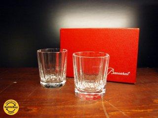 バカラ BACCARAT モナコ MONACO オールドファッション ロックグラス 2客セット ペアグラス 93年廃盤 美品 ★