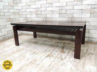 a.flat エーフラット クミ ガラス ローテーブル 1000タイプ センターテーブル コーヒーテーブル アジアン家具 ●