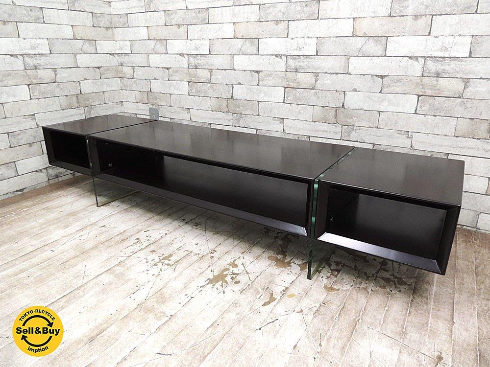 ドリームベッド dream bed AVボード テレビ台 ガラス脚 W160cm スペースエイジ シンプルデザイン ●
