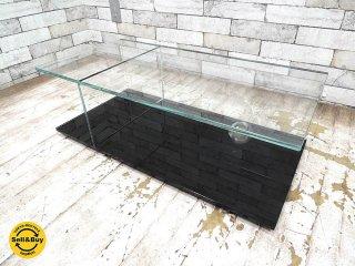 カッシーナ Cassina メックス MEX ローテーブル ガラステーブル 269-03/13 レクタングラータイプ ブラック ピエロリッソーニ  ●