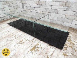 カッシーナ Cassina メックス MEX ローテーブル ガラステーブル 269-02/12 レクタングラータイプ ブラック ピエロリッソーニ ●