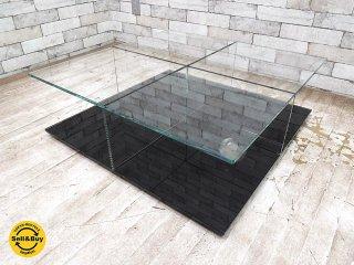 カッシーナ Cassina メックス MEX ローテーブル ガラステーブル 269-01/11 スクエアタイプ ブラック ピエロリッソーニ ●