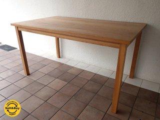 無印良品 MUJI 無垢材テーブル1 オーク材 ナチュラル 現行定価:¥54,900- 状態良好 ダイニングテーブル デスク ◇