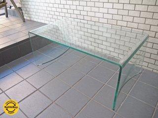 フランフラン Francfranc ラバーグ ガラス コーヒーテーブル W90 ■