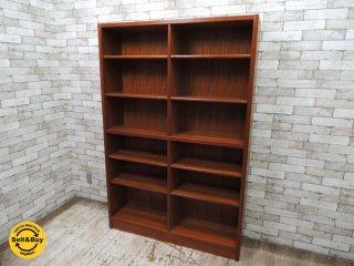 日本のヴィンテージ家具 チーク材 ブックシェルフ 本棚 北欧スタイル W120 ★