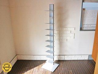 シンテシ SINTESI サピエンスブックタワー 10段 グレー ブルーノ・レイナルディ タワー型シェルフ イタリア 本棚 ◎