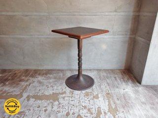 ビンテージ 真鍮 サイドテーブル カフェテーブル 四角 渦巻き 模様 A ♪