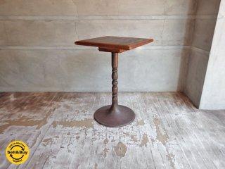 ビンテージ 真鍮 サイドテーブル カフェテーブル 四角 渦巻き 模様 B ♪