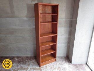 ジャパンビンテージ チーク材 本棚 ブックシェルフ 飾り棚 棚板可変式 高さ180cm ♪