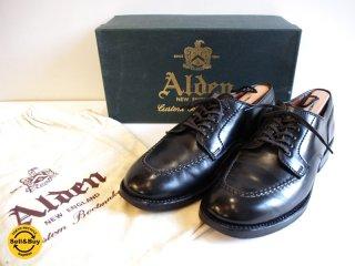 オールデン ALDEN タンカーOX オックスフォード 短靴 コードバン サイズ6.5 ブラック 元箱/保存袋付き ●