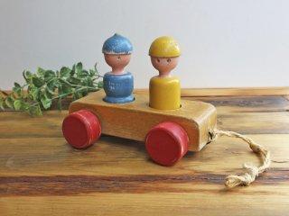 カイボイスン Kay Bojesen 二人乗り Mom and Dad out Driving car ビンテージモデル デンマーク 希少 ◎