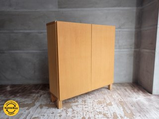 無印良品 MUJI オーク材 組み合わせて使える 木製収納棚 ロータイプ 扉付き ♪