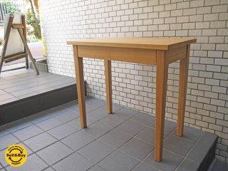 無印良品 MUJI タモ 無垢材 パーソナル木製デスク 引き出し付き ナチュラル W80 シンプルモダンデザイン ■
