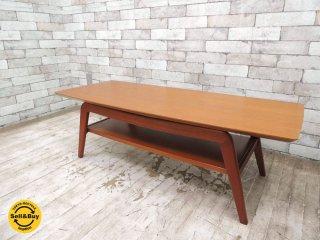 スイッチ SWITCH ファルスター Falster テーブル コーヒーテーブル ローテーブル チーク&マホガニー材 W110cm 北欧スタイル ●