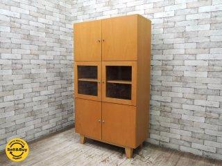 ウニコ unico ミオ Mio ダブルキャビネット 食器棚 ブナ材 廃番アイテム ●