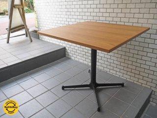 グリニッチ greeniche チーク材天板 オリジナル スタンダード カフェテーブル Xレッグ w80 ■