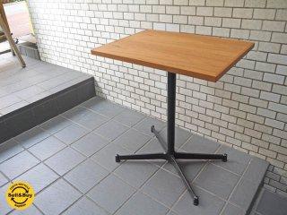 グリニッチ greeniche チーク材天板 オリジナル スタンダード カフェテーブル Xレッグ w60 ■