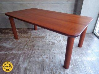 日田工芸 チーク材 無垢材 ビンテージ ダイニングテーブル♪