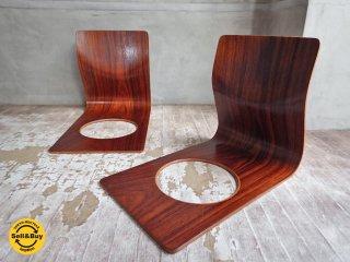 天童木工 TENDO 座椅子 ビンテージ ローズウッド 藤森健次 2脚セット ♪