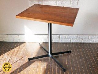 グリニッチ greeniche チーク材天板 オリジナル スタンダード カフェテーブル Xレッグ w60 ◎