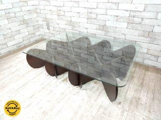 イーアンドワイ E&Y マトリックステーブル MATRIX TABLE ダークブラウン Lサイズ プライウッド リビングテーブル ●