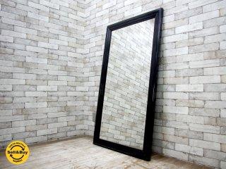 ウニコ unico パスト PAST ウォールミラー 鏡 姿見 ブラック 廃番 ●