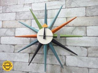 ヴィトラ Vitra ジョージネルソン George Nelson Sunburst Clock 壁掛け時計 ウォールクロック ●