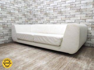 ゼロファーストデザイン ZERO FIRST DESIGN OuOu-Sofa 3pソファ 本革 W189cm スペースエイジ モダンデザイン ●