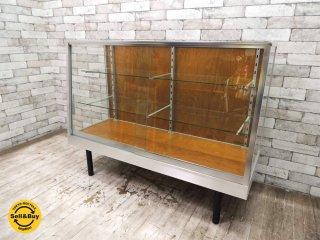 パシフィックファニチャーサービス pacific furniture service アルミナム ガラスケースAL-120 店舗什器 ショーケース 美品 ●