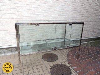 ガラスショーケース 6面ガラス 鍵付き W150xD75xH100.5cm ディスプレイケース 陳列棚 店舗什器 ●