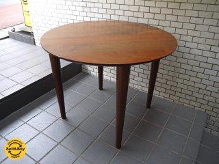 柏木工 KASHIWA ウォールナット 無垢材 ラウンド ダイニングテーブル 丸 円形 ■