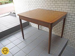 日進木工 nissin エクステンション 伸長式 ダイニングテーブル ナラ材 ブラウン 北欧スタイル ■