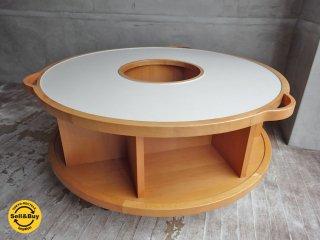 アクタス ACTUS キッズミュージアム KIDS MUSEUM ラウンド テーブル シェルフ 知育家具 ホワイト ♪