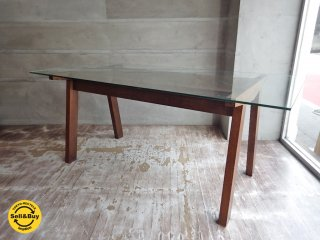 モダンデザイン ガラス ダイニングテーブル 幅170cm ♪