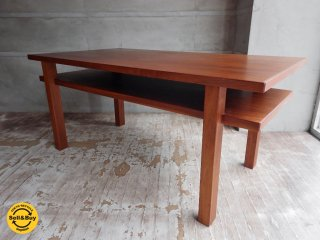 ジャパンビンテージ チーク材 センター ソファテーブル コーヒーテーブル ローテーブル 特殊な形 ♪