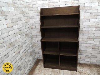 柏木工 KASHIWA ナラ材 オープンブックシェルフ 本棚 書棚 飾り棚  ◎