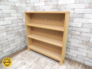 無印良品 MUJI タモ材 組み合わせて使える木製収納 本棚 シェルフ (A) W80xD14xH83cm ●