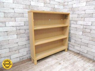 無印良品 MUJI タモ材 組み合わせて使える木製収納 本棚 シェルフ (B) W80xD14xH83cm ●