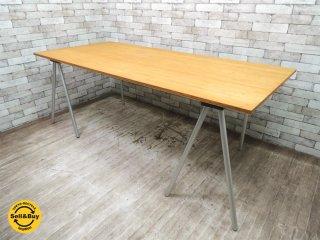 マールテンヴァンセーヴェレン Maarten Van Severen BULO ワーキングテーブル Schraag Table バンブートップ ベルギー W200xD90xH73.5cm ●