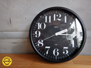 セイコー SEIKO ヴィンテージ 掛け時計 渡辺力 リキ スチールクロック クォーツ  80年代 希少 ♪