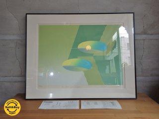 南正雄 Masao MINAMI シルクスクリーン 26/50 『two beams』 86年作 オリジナル版画 保障証付き ♪