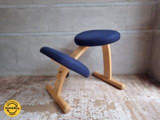 リボ Rybo バランスイージー Balans EASY チェア 学習椅子 ネイビー 紺色 ブラック 黒 ミックスファブリック♪