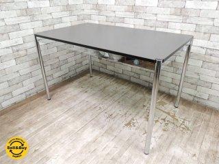 USMモジュラーファニチャー USMハラー テーブル USM Haller Table ダークウォームグレーラミネート天板 定価¥109,581- ダイニングテーブル オフィス デスク MoMA ◇